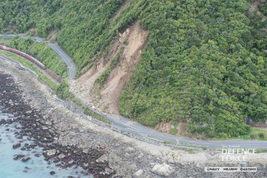 Earthquake landslip